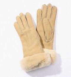Gala Gloves ムートンファーコンビグローブ【トゥモローランド/TOMORROWLAND レディス 手袋 41 ベージュ系 ルミネ LUMINE】