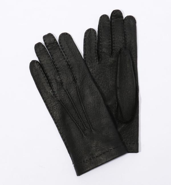 HESTRA ペッカリーグローブ【トゥモローランド/TOMORROWLAND メンズ 手袋 19 ブラック ルミネ LUMINE】