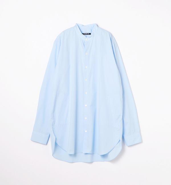 【トゥモローランド/TOMORROWLAND】 160/2コットンブロード スタンドカラーロングシャツ