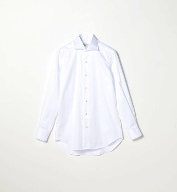 【トゥモローランド/TOMORROWLAND】 120/2コットンドビーストライプ ワイドカラー ドレスシャツ NEW WIDE-5 [送料無料]