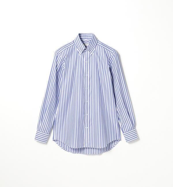 【トゥモローランド/TOMORROWLAND】 120/2コットンドビーストライプ ボタンダウン ドレスシャツ NEW BD-4 [送料無料]