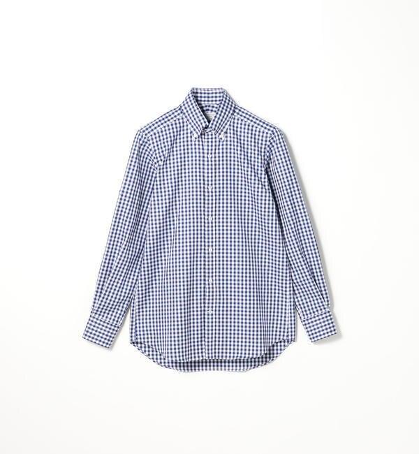 【トゥモローランド/TOMORROWLAND】 120/2コットンギンガム ボタンダウン ドレスシャツ NEW BD-4 [送料無料]