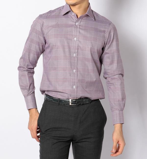 【トゥモローランド/TOMORROWLAND】 120/2コットングレンチェック ワイドカラー ドレスシャツ NEW WIDE-3