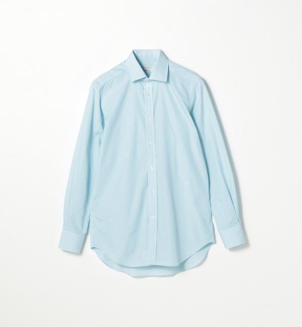 【トゥモローランド/TOMORROWLAND】 120/2コットンストライプ ワイドカラー ドレスシャツ NEW WIDE-3 [送料無料]