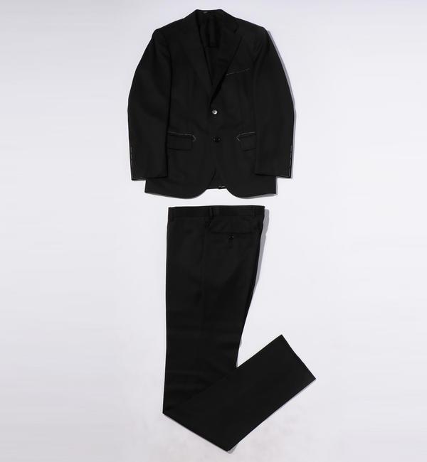 HORIZON TWILL 2ボタンスーツ【トゥモローランド/TOMORROWLAND メンズ スーツ 19 ブラック ルミネ LUMINE】