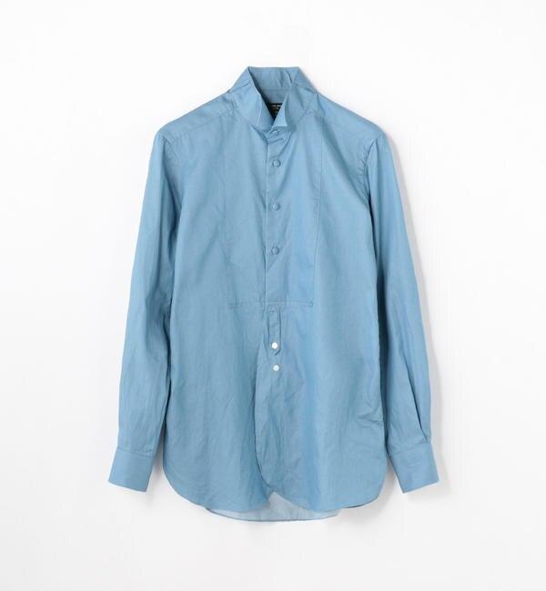【トゥモローランド/TOMORROWLAND】 100/2インディゴツイル ウィングカラー ドレスシャツ [送料無料]