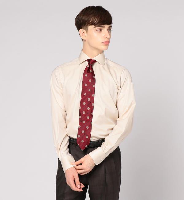 【トゥモローランド/TOMORROWLAND】 120/2フレンチツイル ワイドカラー ドレスシャツ NEW WIDE-5