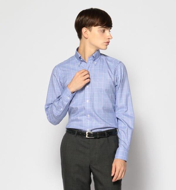 【トゥモローランド/TOMORROWLAND】 120/2コットングレンチェック ボタンダウン ドレスシャツ NEW BD-4