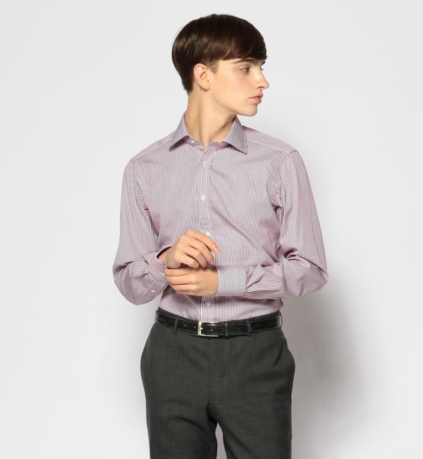 【トゥモローランド/TOMORROWLAND】 120/2コットンストライプ ワイドカラー ドレスシャツ NEW WIDE-3