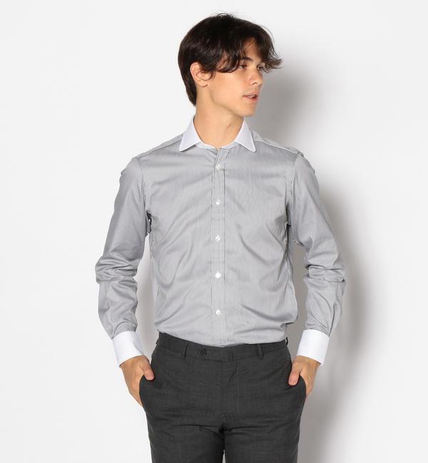 【トゥモローランド/TOMORROWLAND】 120/2コットンツイル クレリック ラウンドカラー ドレスシャツ NEW ROUND