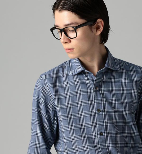 【トゥモローランド/TOMORROWLAND】 【一部店舗限定】コットンチェック ラウンドカラーシャツ