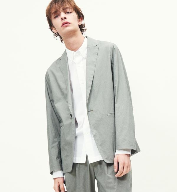 モテ系メンズファッション 【トゥモローランド/TOMORROWLAND】 コットンタイプライター 1Bテーラードジャケット