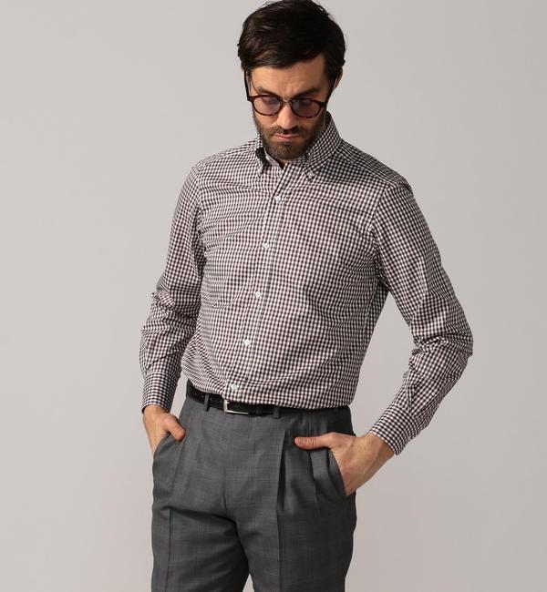 【トゥモローランド/TOMORROWLAND】 120/2コットンブロード ボタンダウン ドレスシャツ NEW BD-4