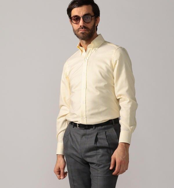 【トゥモローランド/TOMORROWLAND】 120/2コットンピンポイントオックスフォード ボタンダウン ドレスシャツ NEW BD-4