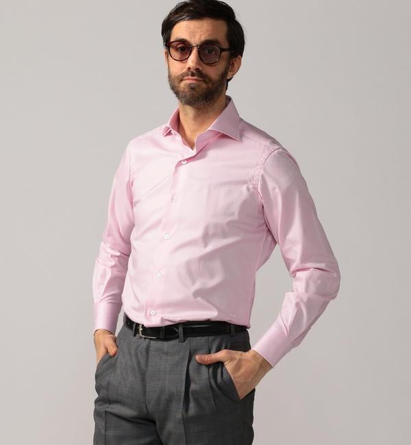 【トゥモローランド/TOMORROWLAND】 120/2コットンフレンチツイル ワイドカラー ドレスシャツ NEW WIDE-5