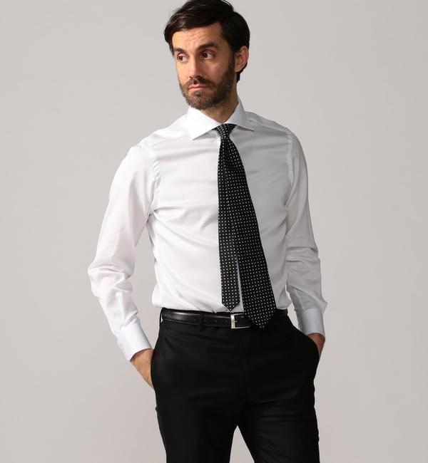 【トゥモローランド/TOMORROWLAND】 120/2コットンドビー ワイドカラー ドレスシャツ NEW WIDE-5