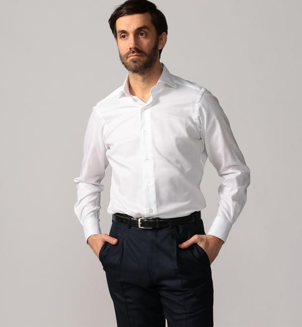 【トゥモローランド/TOMORROWLAND】 120/2コットンロイヤルオックスフォード ワイドカラー ドレスシャツ NEW WIDE-5