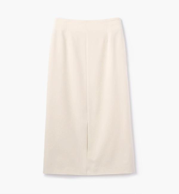 【トゥモローランド/TOMORROWLAND】 マットサテン Iラインスカート