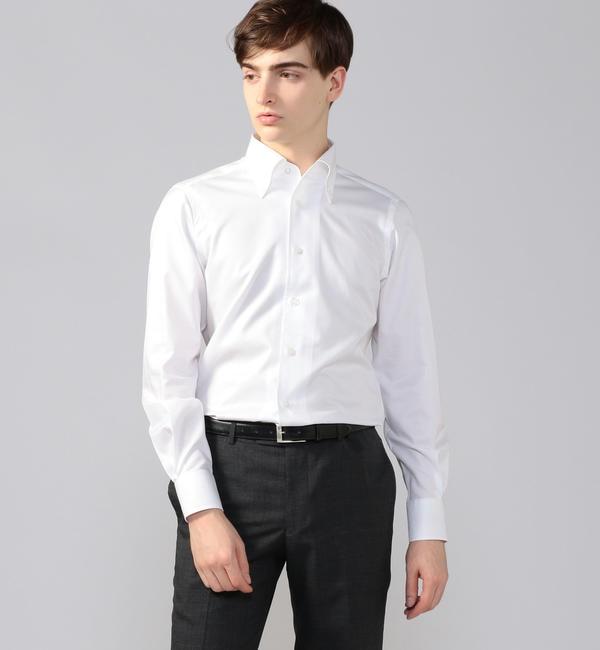 【トゥモローランド/TOMORROWLAND】 120/2コットンツイル ワンピースボタンダウン ドレスシャツ