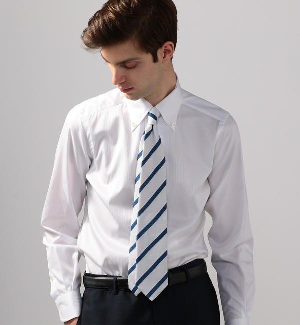 【トゥモローランド/TOMORROWLAND】 120/2コットンドビー ワンピースボタンダウン ドレスシャツ ONEPIECE-BD