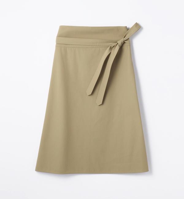 【トゥモローランド/TOMORROWLAND】 コットンツイル ベルテッドトラペーズスカート