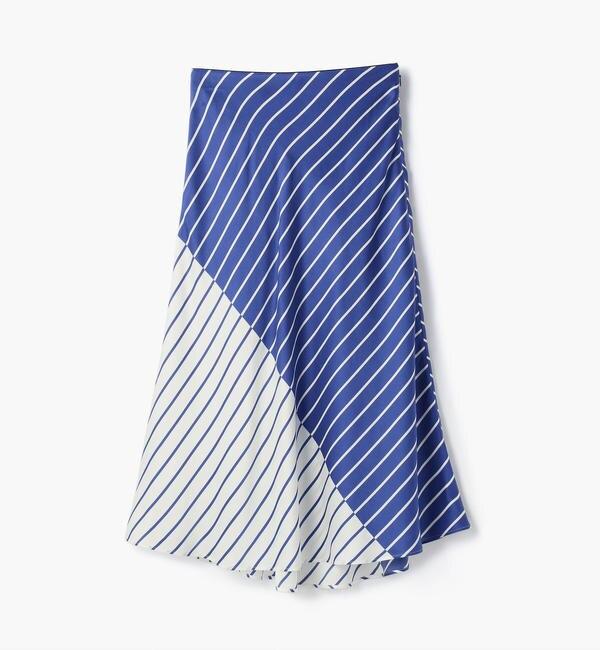 【トゥモローランド/TOMORROWLAND】 シルクサテンストライプ マーメイドスカート
