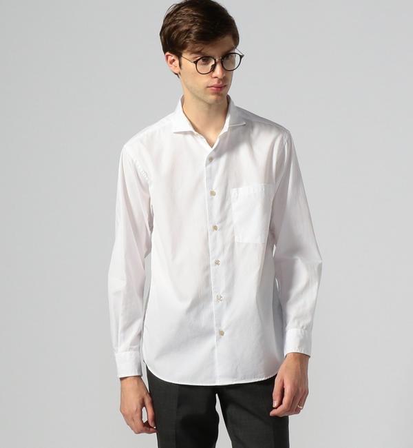 【トゥモローランド/TOMORROWLAND】 100/2コットンポプリン カッタウェイカラーシャツ