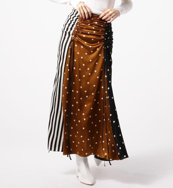 【トゥモローランド/TOMORROWLAND】  LEE MATHEWS シルクパッチワークロングスカート