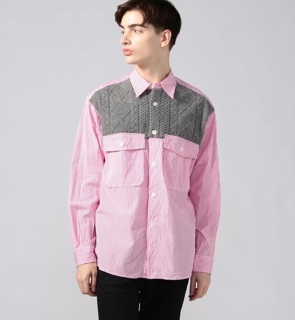 【トゥモローランド/TOMORROWLAND】 100/2ポプリン デザインシャツ tricot shirt