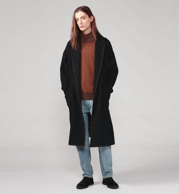 人気メンズファッション|【トゥモローランド/TOMORROWLAND】 ジーロンラムウールダブルフェイス ラップコート