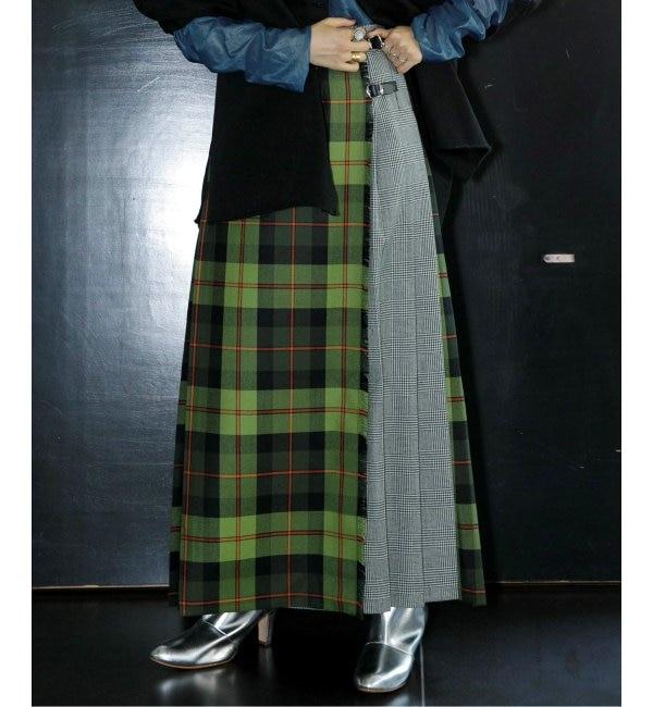 《予約》【ONEIL OF DUBLIN for CITYSHOP】キルトマキシスカート(010SIZE GREEN)