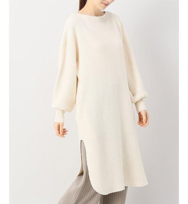 【エミリーウィーク/EMILY WEEK】 Organic Cotton ビッグワッフルワンピース.