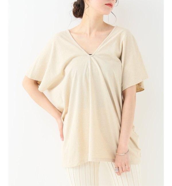 【エミリーウィーク/EMILY WEEK】 Cotton/Bamboo Vネックプルオーバー