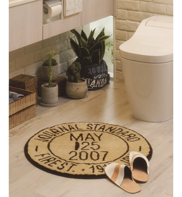 【ジャーナル スタンダード ファニチャー/journal standard Furniture】 JSF STAMP RUG BEIGE