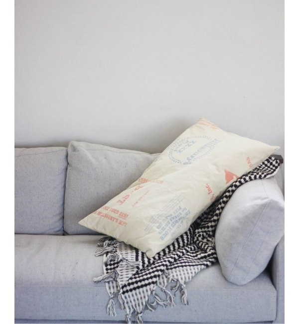 【ジャーナル スタンダード ファニチャー/journal standard Furniture】 ADVERTISING PRINT LONG CUSHION