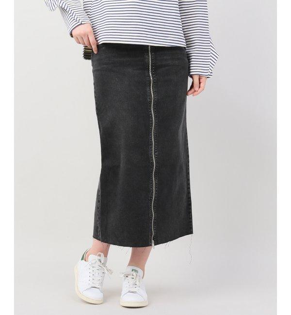 CHEAPMONDAY zip long skirt【ジョイントワークス/JOINT WORKS レディス スカート ブラック ルミネ LUMINE】