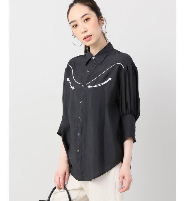 QUINOA western shirts【ジョイントワークス/JOINT WORKS レディス シャツ・ブラウス ブラック ルミネ LUMINE】