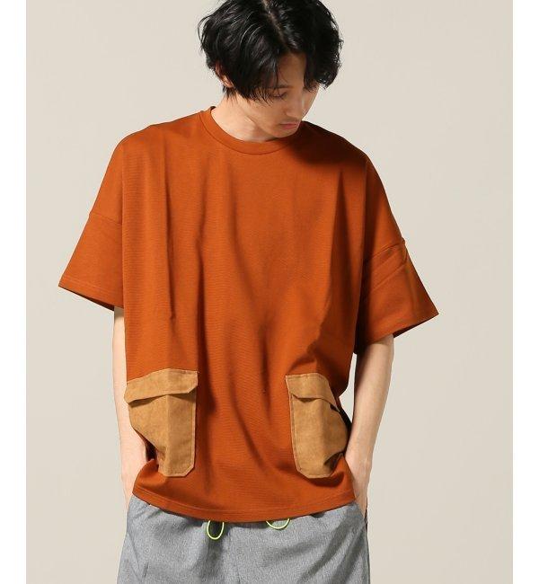 ミラノポンチビッグポケットTシャツ【ジョイントワークス/JOINT WORKS メンズ Tシャツ・カットソー オレンジ E ルミネ LUMINE】