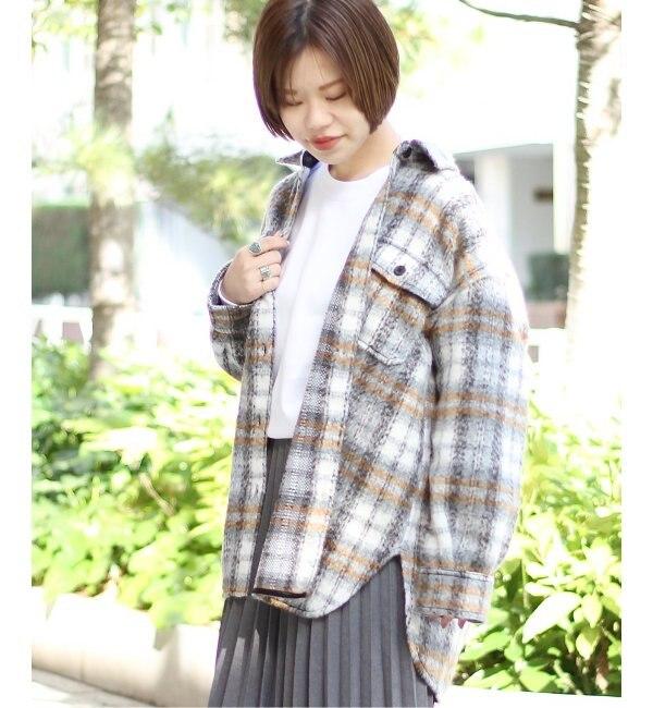 【ジョイントワークス/JOINT WORKS】 シャギーチェック CPOモデル ビッグシャツジャケット