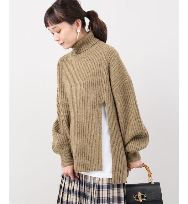 【ジョイントワークス/JOINT WORKS】 【CLANE / クラネ】 side slit turtle rib knit