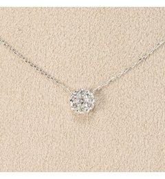 【デクーヴェルト/DECOUVERTE】 18KWG 0.2ct ダイヤモンド ネックレス [送料無料]