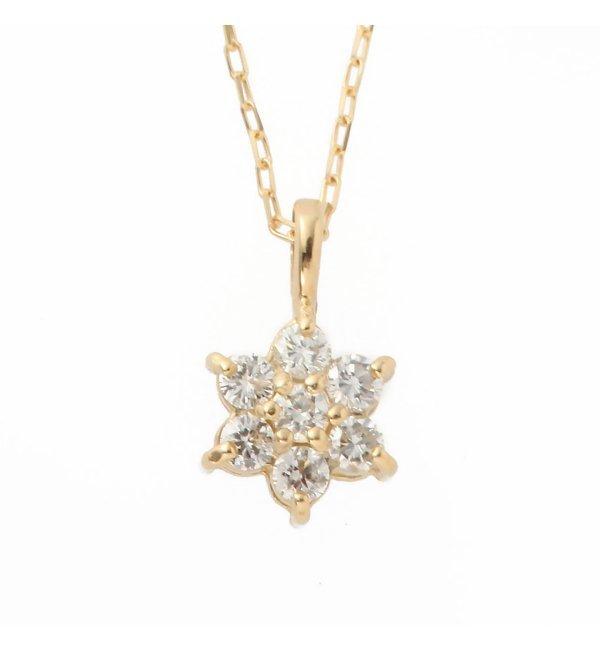 【デクーヴェルト/DECOUVERTE】 18KYG 0.1ct ダイヤモンド ネックレス [送料無料]