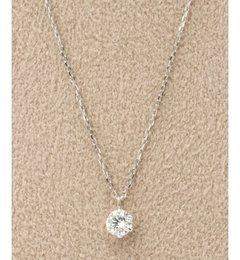 【デクーヴェルト/DECOUVERTE】 《WEB限定》PT 0.2ct ダイヤモンド ネックレス H&C [送料無料]