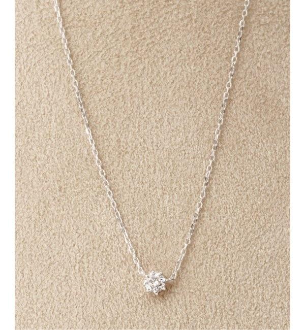 【デクーヴェルト/DECOUVERTE】 18KWG 0.2ct ダイヤモンド ネックレス H&C