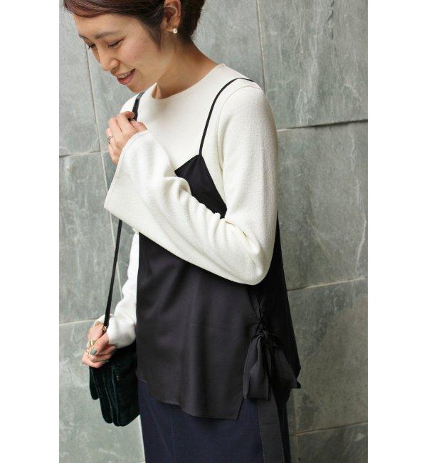 【イエナ/IENA】 ニットジョーゼット フレアースリーブTシャツ◆ [送料無料]