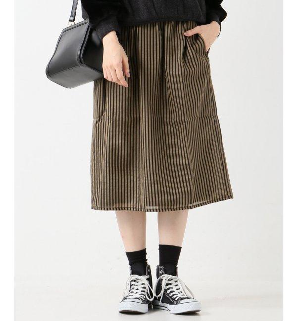 【イエナ/IENA】 CHLOE STORA ストライプギャザースカート [送料無料]