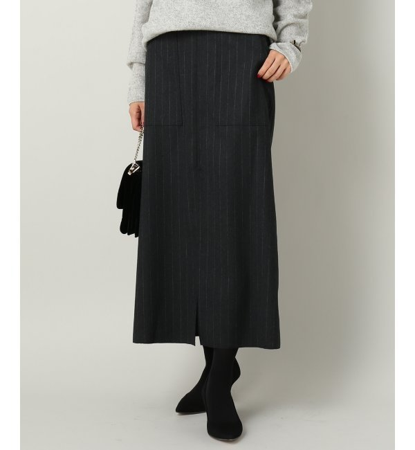【イエナ/IENA】 IENA LA BOUCLE ピンストライプ ロングタイトスカート [送料無料]