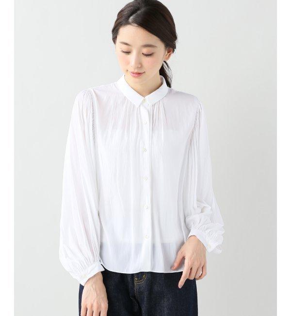 【イエナ/IENA】 サテンチビ襟ブラウス [送料無料]