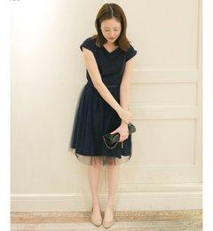 【イエナ/IENA】 《予約》4WAY Vネックワンピース×チュールスカートセット◆ [送料無料]