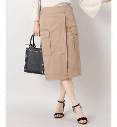 【イエナ/IENA】綿ツイルミリタリースカート[送料無料]